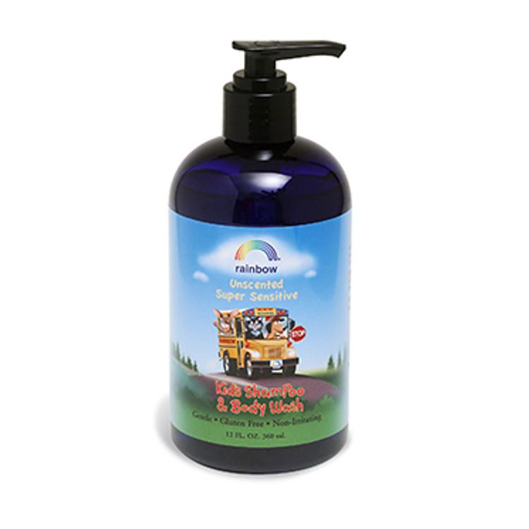 Kids Shampoo & Body Wash Unscented 12oz
