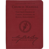 Manual of The Mother Church, Ruby Red, Vivella® cover (front)