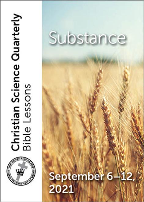 Christian Science Quarterly Bible Lessons: Substance, September 12, 2021 – eBook (MOBI)