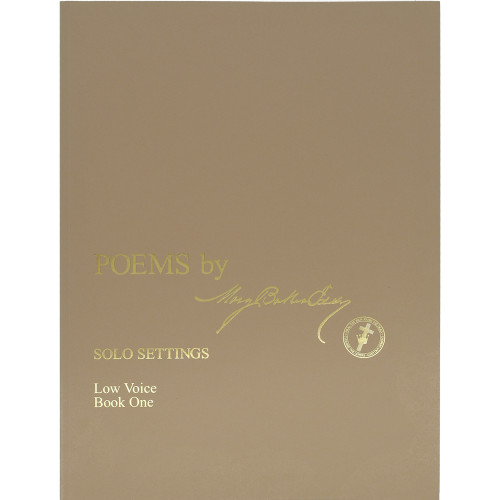 Poems by Mary Baker Eddy – Solo Settings, Low Voice, Book One - Front cover