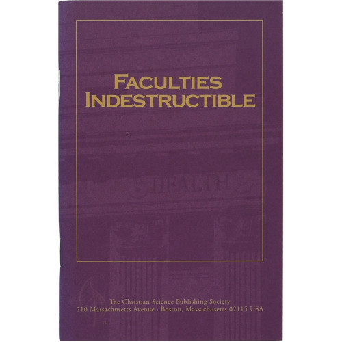 Faculties Indestructible (pamphlet) — Front cover