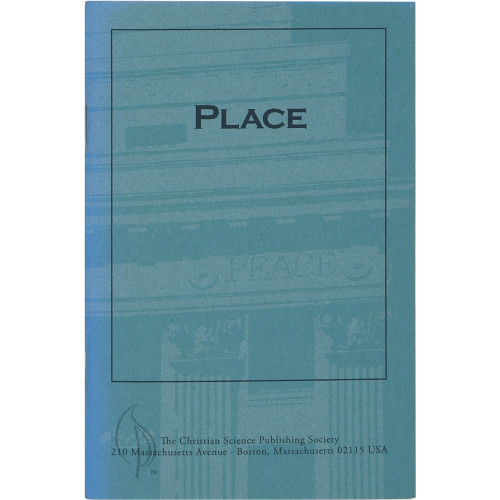 Place (pamphlet) - Front cover