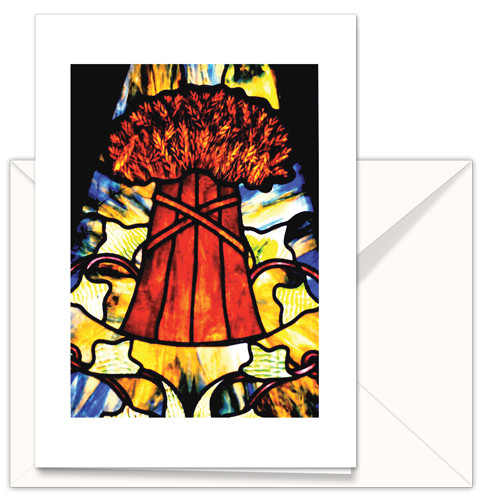 TMC Orig Stained glass Sheaf of Wheat (3pk)