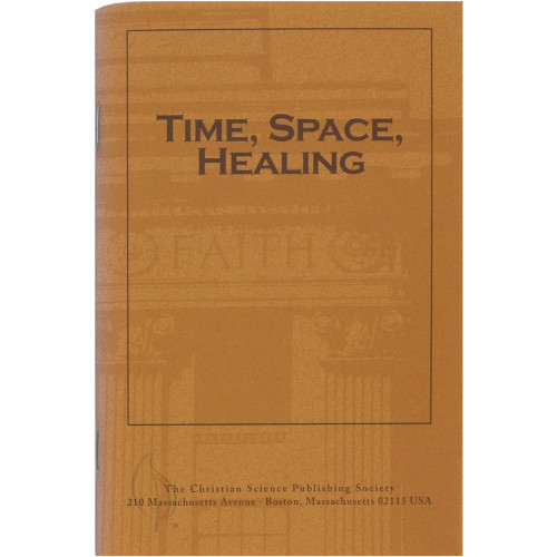Time, Space, Healing (pamphlet) - Front cover