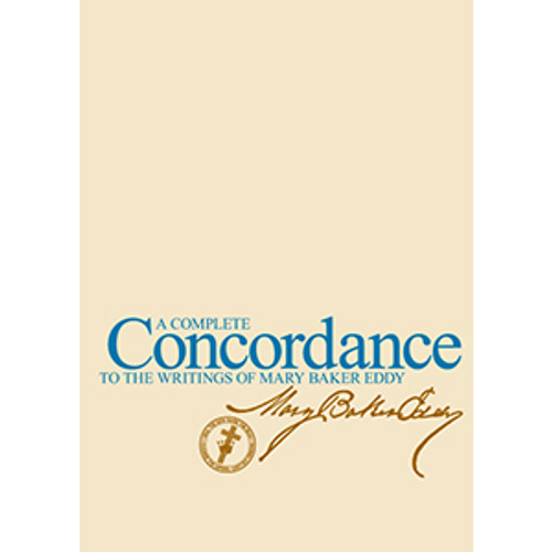 A Complete Concordance to the Writings of Mary Baker Eddy, Paperback edition