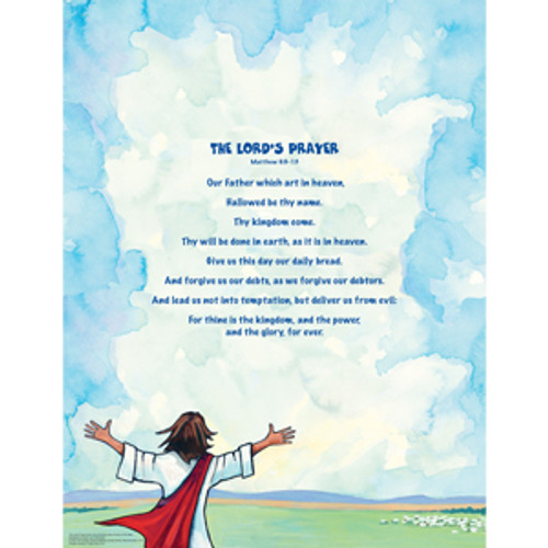 Lord's Prayer Poster, Bible Text Only