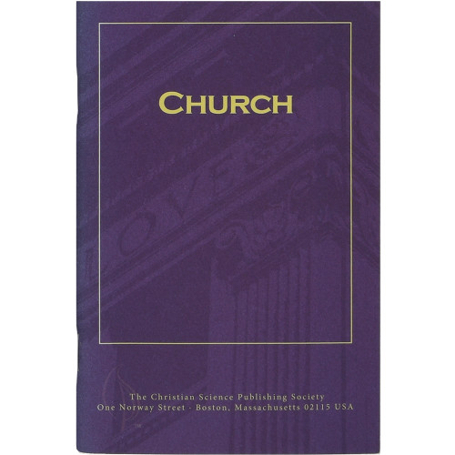 """""""Church"""" pamphlet (3 pack) — Front cover"""