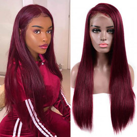 99J BURGUNDY COLOR 13X6 LACE FRONT