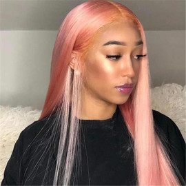 PINK COLOR LACE WIG