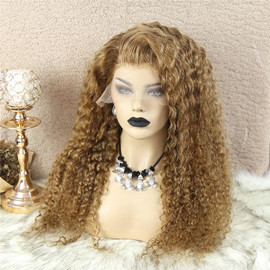 HONEY BLONDE 13X4 LACE FRONT DEEP WAVE WIG