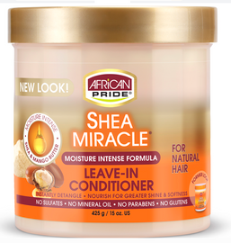 African Pride Shea Miracle Moisture Intense Leave-In Conditioner - For Wavy, Curly, Coily hair with Shea Butter
