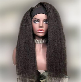 KINKY STRAIGHT HEADBAND WIG_HUMAN HAIR