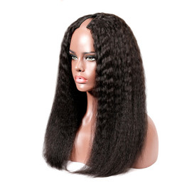 KINKY STRAIGHT U-PART WIG 150% DENSITY