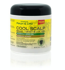 Jamaican Mango & Lime No More Itch Cool Scalp Braid, Twist & Lock Gel 6oz
