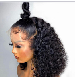 13X4 LACE FRONTAL BOB  WIG_CURLY