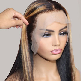 LACE FRONT STRAIGHT WIG 1B/27*Gorgeous PRE PLUCKED HAIRLINE