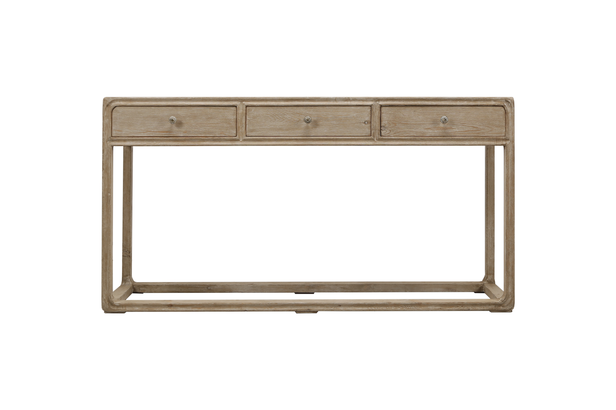Fine Reclaimed Peking Console Table With 3 Drawers Weathered White Wash Interior Design Ideas Oxytryabchikinfo