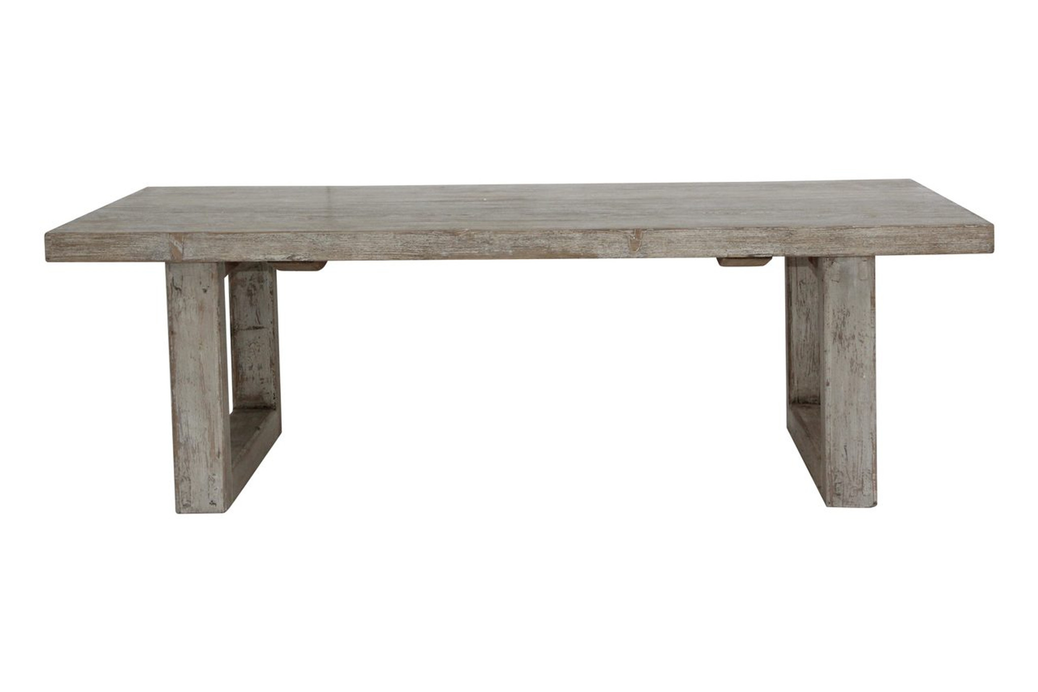 Reclaimed Wood Coffee Table With Antique White Wash Lily S Living