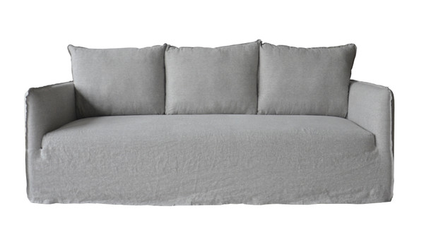 Naples Slipcover Sofa Wash Linen Gray