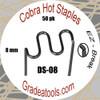 Cobra Hot Staples DS-08  S-Pattern 8mm
