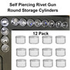 SPR-12 Round Rivet Storage Cylinders 12 Pack - in case