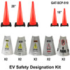 Electric Vehicle Repair Safety Cone Package 510 -2