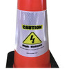 Electric Vehicle High Voltage Caution Sign - Cone Collar-6