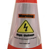 Electric Vehicle High Voltage Warning Sign - Cone Collar-3