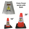 Electric Vehicle High Voltage Warning Sign - Cone Collar-4