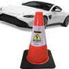 Electric Vehicle High Voltage Warning Sign - Cone Collar-8