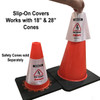 Electric Vehicle High Voltage Battery Sign - Cone Collar-3