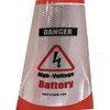 Electric Vehicle High Voltage Battery Sign - Cone Collar-4