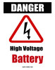 Electric Vehicle High Voltage Battery Sign - Cone Collar-8