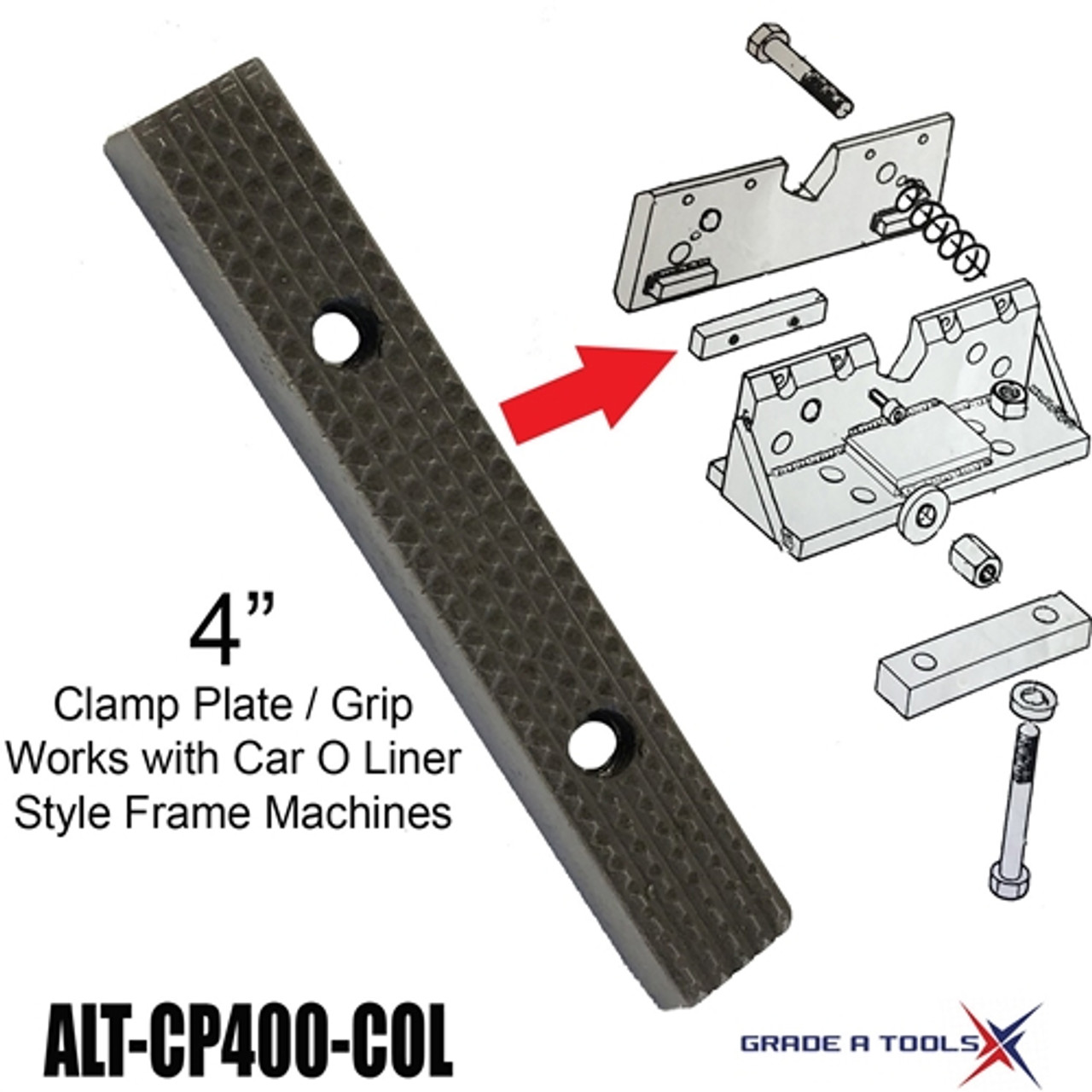 "Clamp Plate | Grip 4"" - Car O Liner Frame Anchoring Clamps"