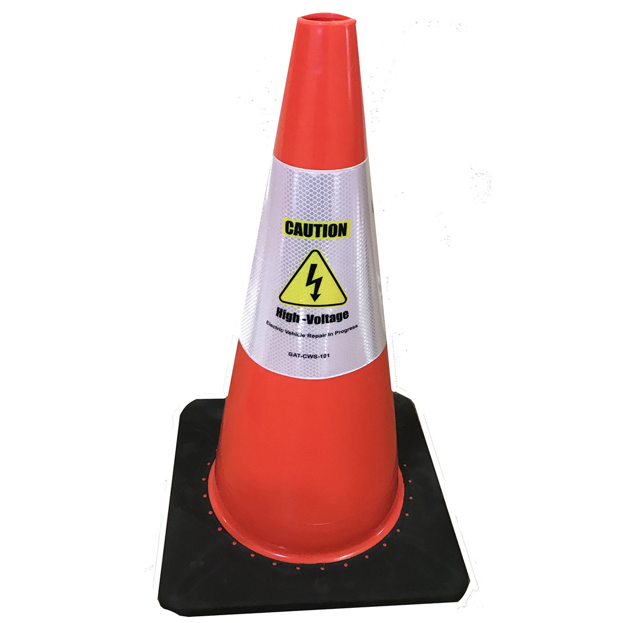 Electric Vehicle High Voltage Caution Sign - Cone Collar-2