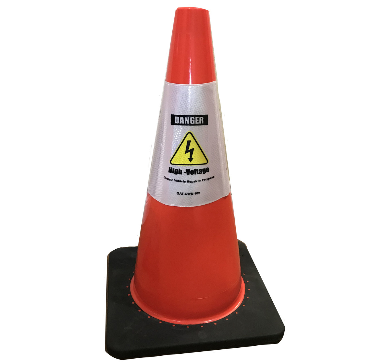 Electric Vehicle High Voltage Danger Sign - Cone Collar-6