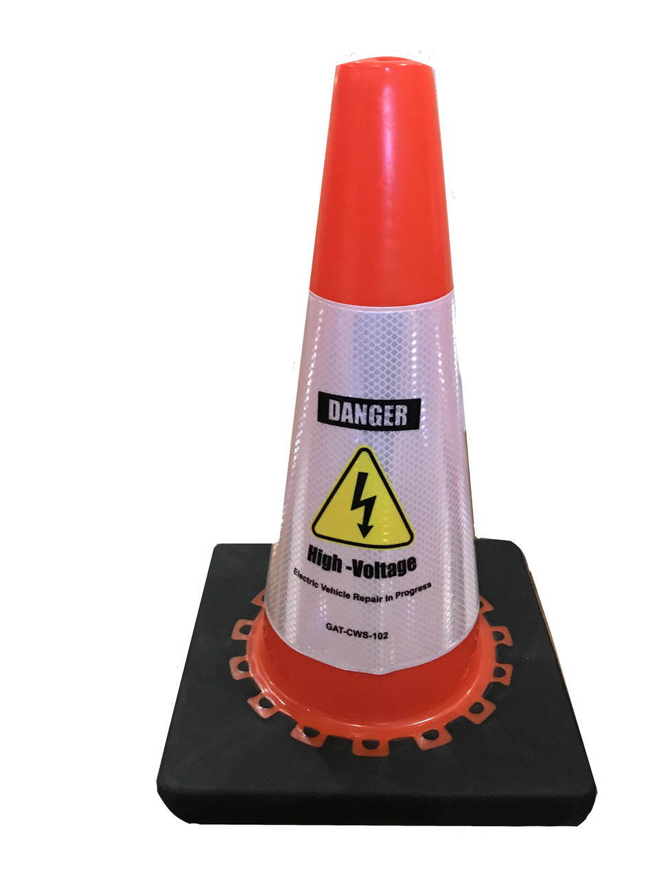 Electric Vehicle High Voltage Danger Sign - Cone Collar-1