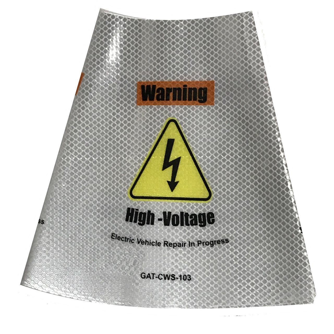 Electric Vehicle High Voltage Warning Sign - Cone Collar-5
