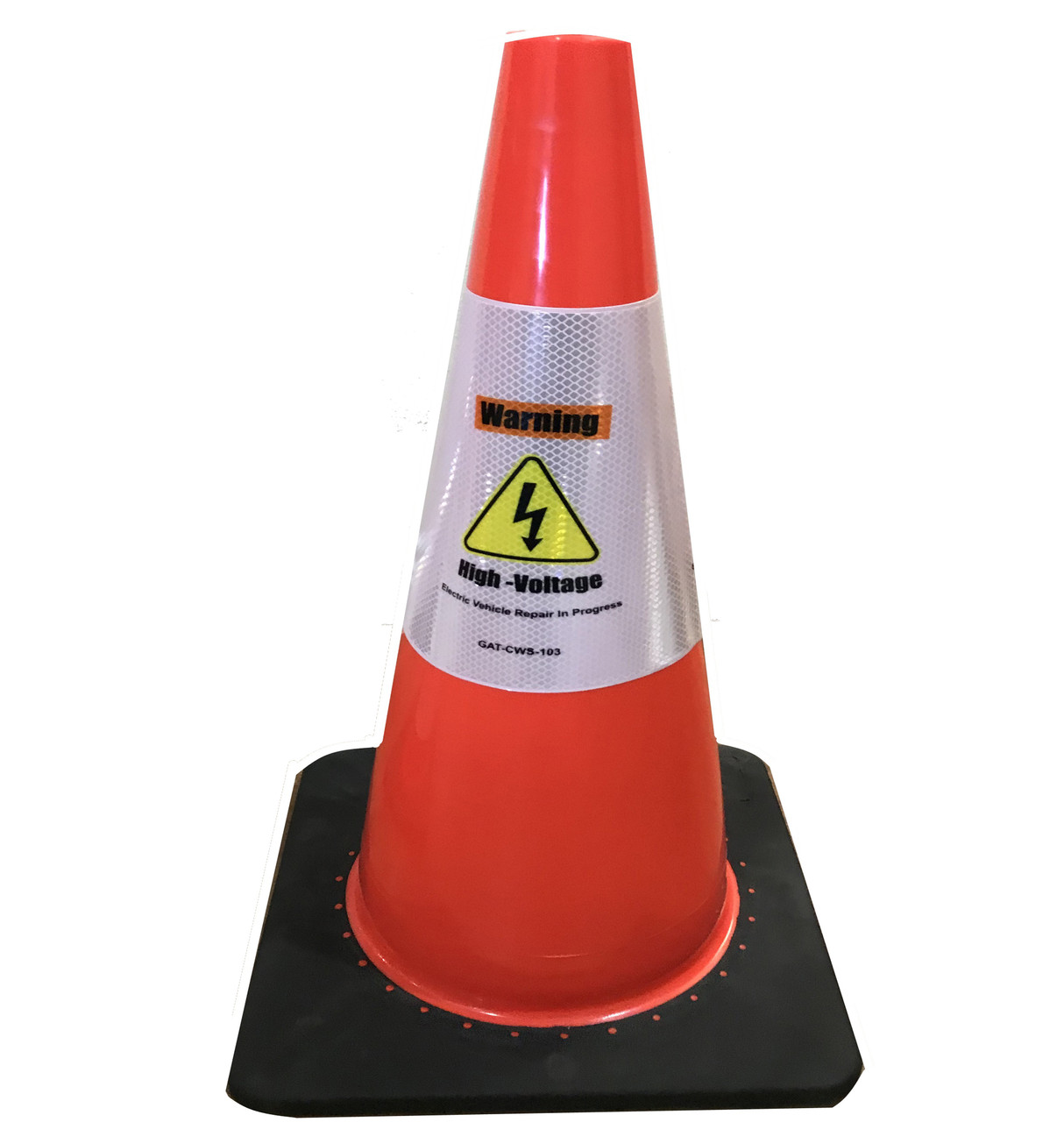 Electric Vehicle High Voltage Warning Sign - Cone Collar-6