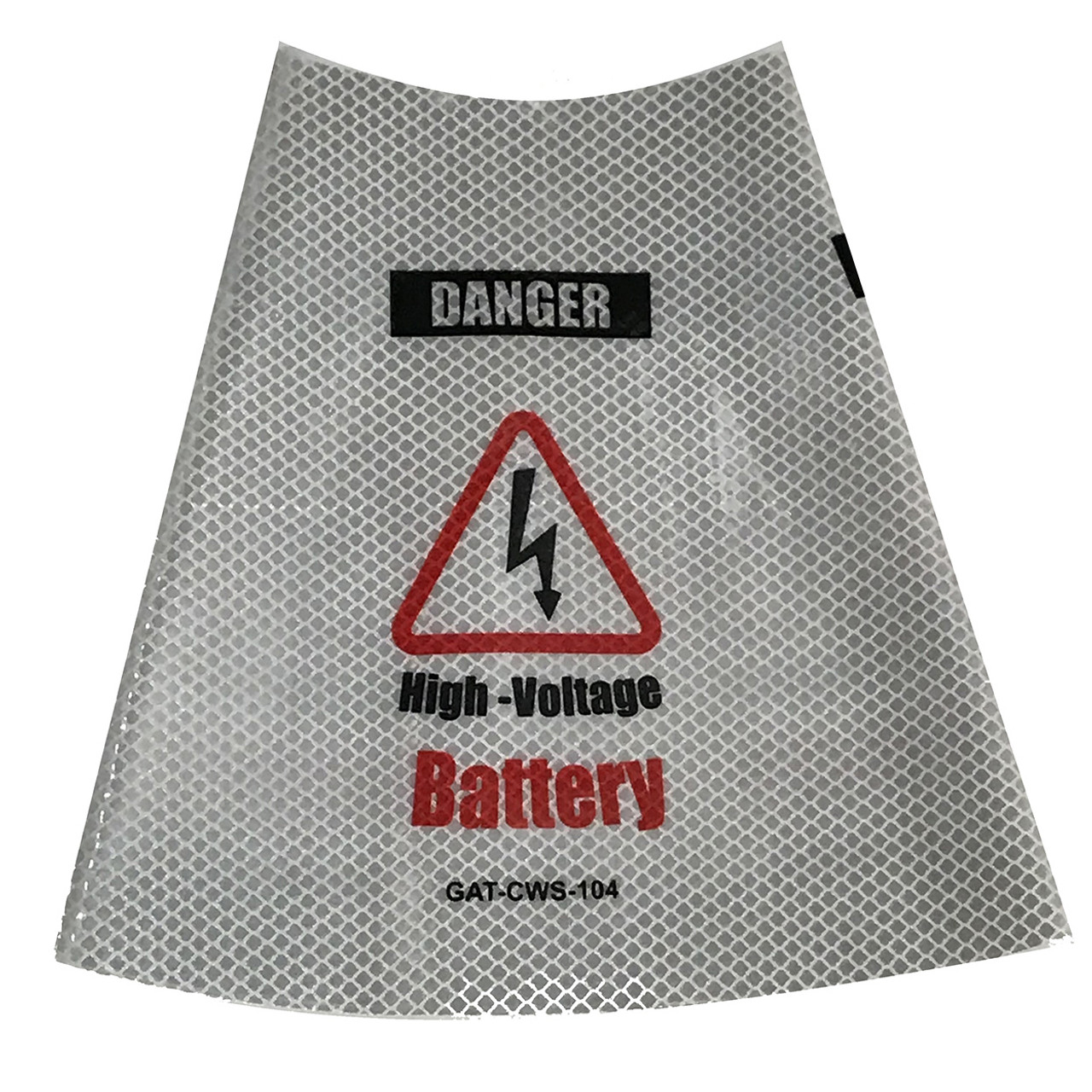 Electric Vehicle High Voltage Battery Sign - Cone Collar-6