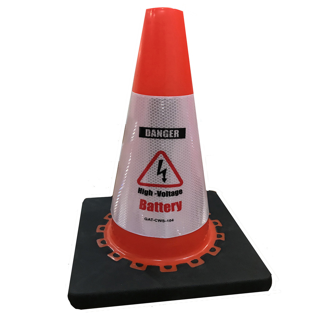 Electric Vehicle High Voltage Battery Sign - Cone Collar-2