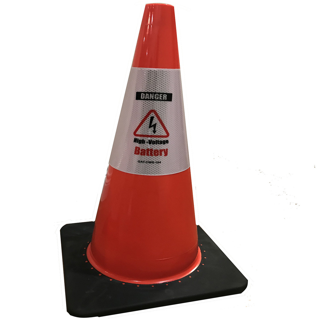 Electric Vehicle High Voltage Battery Sign - Cone Collar-7