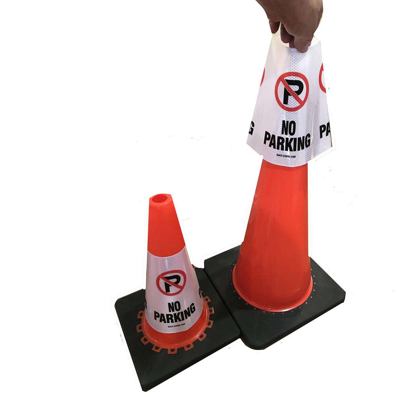 No parking Safety Cone Collar - Reflective