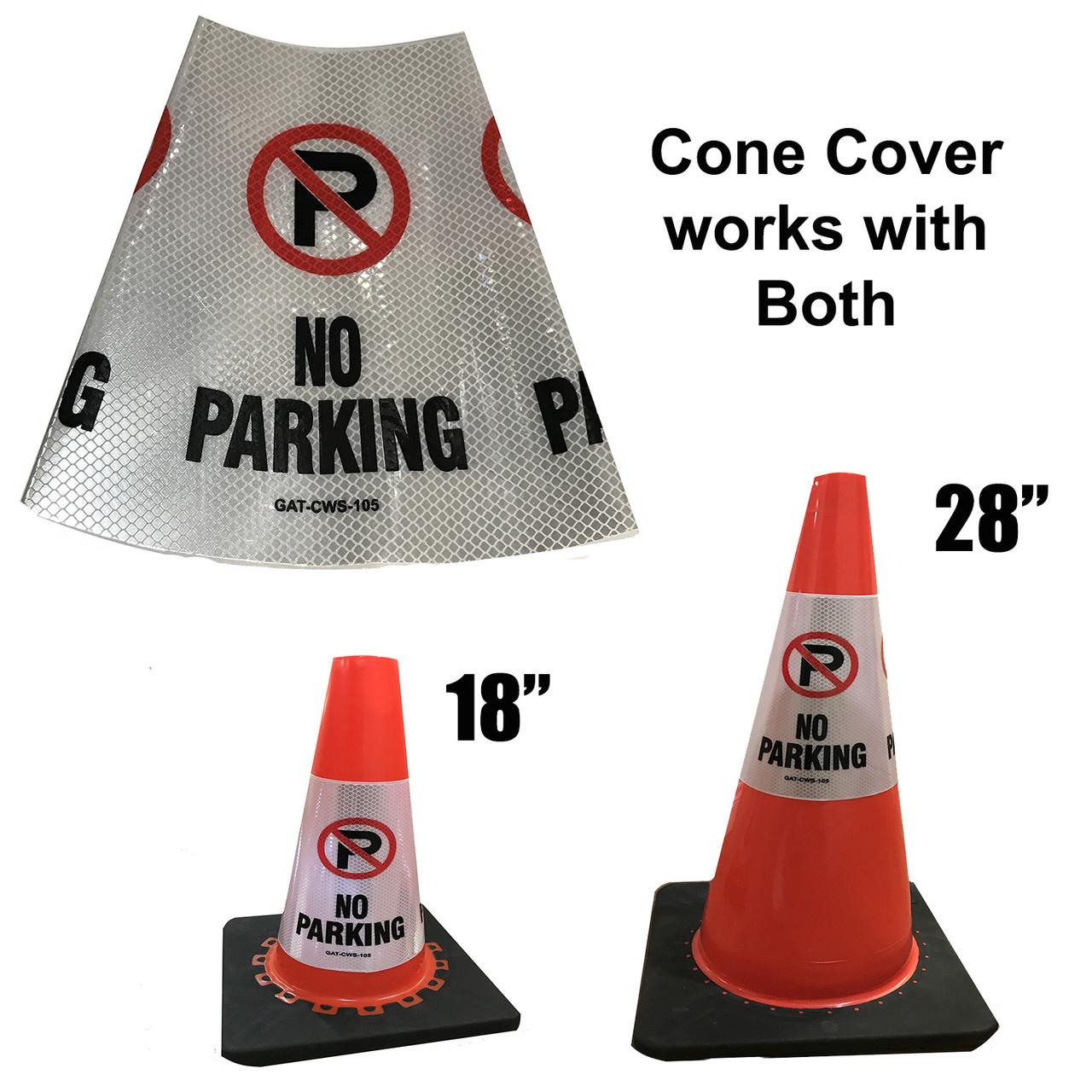 No parking Safety Cone Collar - Reflective-1