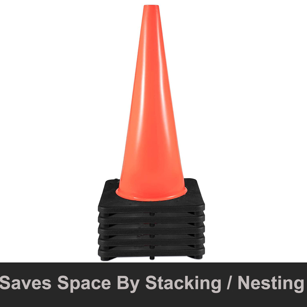 """Orange Safety Cone 18"""" - PVC Non Reflective"""