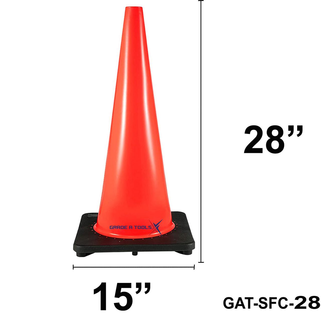 """Orange Safety Cone 28"""" - PVC Non Reflective"""