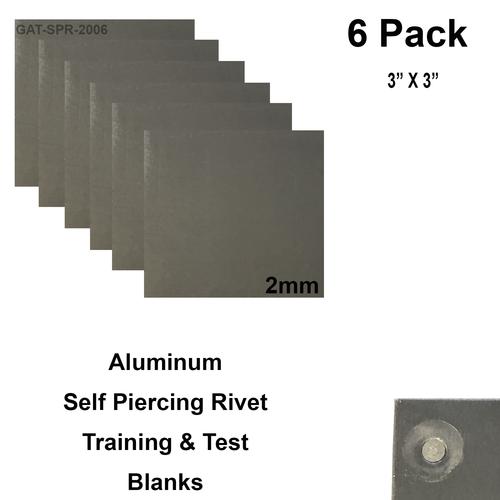 Aluminum Self Piercing Rivet Training & Test Panels - 6 pk
