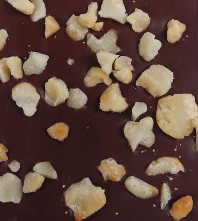 Roasted Australian Macadamia wrapped in Dark Chocolate.