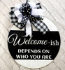 Custom Welcome-Ish Sign.  Have fun with a new welcome sign.  Custom Colors available.