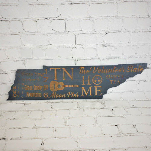 Custom Tennessee Sign in Gray stain